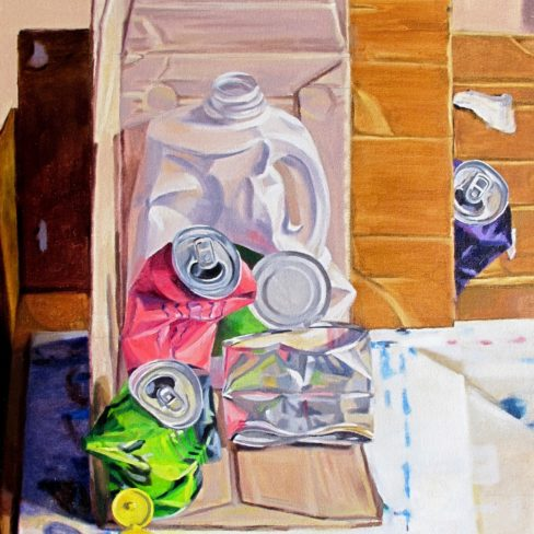 Image of MC Still Life with Tin Can and Cardboard