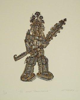 Woodcut image